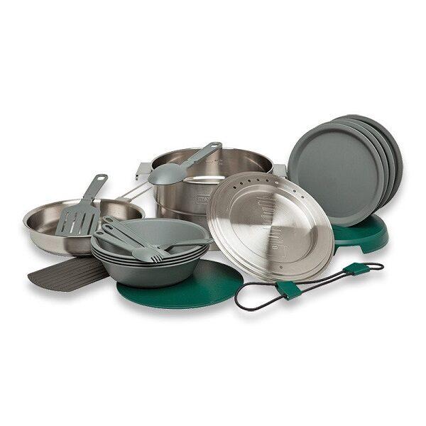 ست ظروف استنلی مدل آشپزخانه کامل مناسب سفر ، کمپینگ و کوهنوردی با ارسال رایگان Stanley The Full Kitchen Base Camp Cook Set 3.7QT / 3.5L