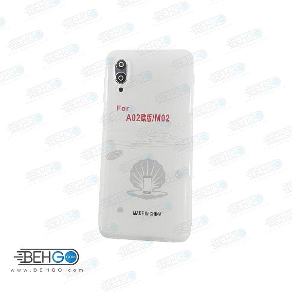 قاب A022 کاور ژله ای شفاف و بی رنگ با محافظ لنز دوربین گوشی سامسونگ Clear Cover Camera Protection Case for samsung A02 / M02 / A022