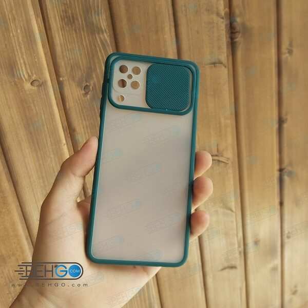 قاب   A12  کاور پشت مات محافظ لنزدار کشویی گارد A12 با محافظ لنز دوربین گوشی سامسونگ Lens Slider Case For Samsung A12