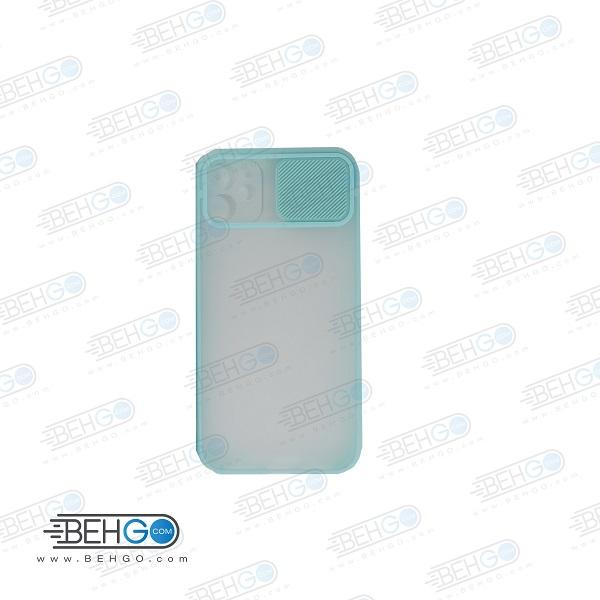 قاب Iphone 12 mini کاور پشت مات محافظ لنزدار کشویی گارد Iphone 12 mini با محافظ لنز دوربین گوشی آیفون Lens Slider Case For Iphone12mini
