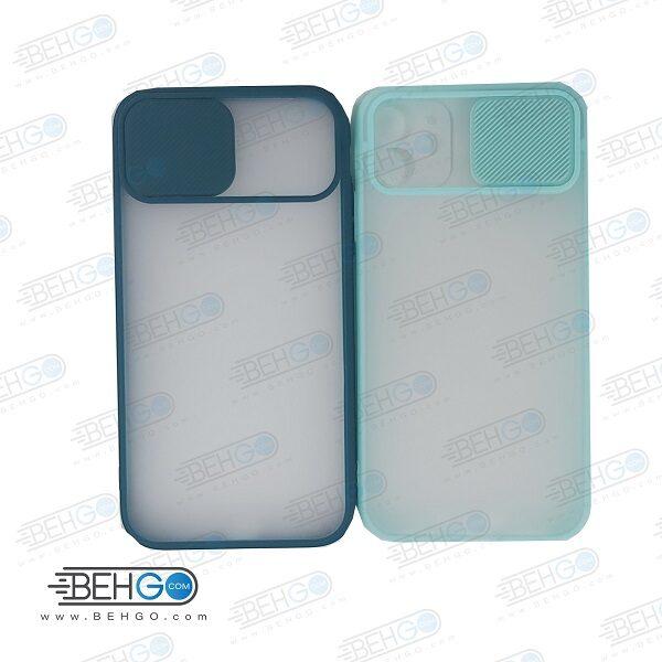 قاب Iphone11 کاور پشت مات محافظ لنزدار کشویی گارد Iphone11 با محافظ لنز دوربین گوشی آیفون Lens Slider Case For Iphone11