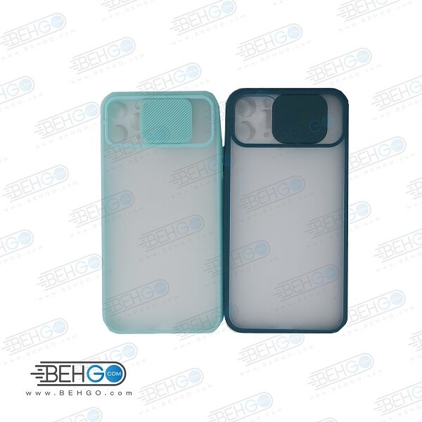 قاب Iphone11pro max کاور پشت مات محافظ لنزدار کشویی گارد Iphone11pro max با محافظ لنز دوربین گوشی آیفون  Lens Slider Case For Iphone11pro max