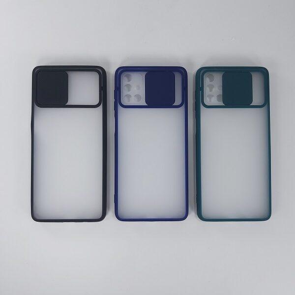 قابM51  کاور پشت مات محافظ لنزدار کشویی گارد M51 با محافظ لنز دوربین گوشی سامسونگ Lens Slider Case For Samsung M51