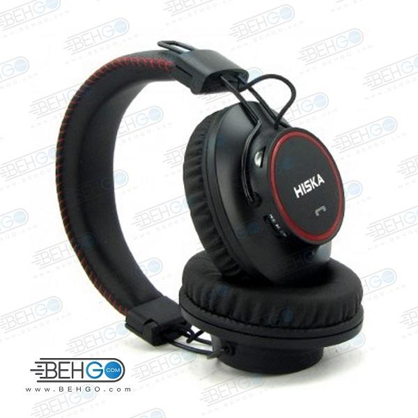 هدفون بی سیم هیسکا HISKA اصلی مدل K-350HP با سری چرخشی HISKA K-350HP Wireless Headphones