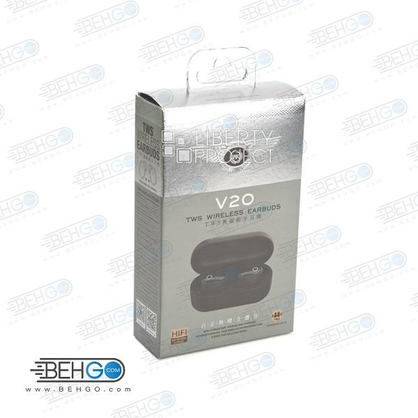 هندزفری بلوتوث مدل WK TWS Wireless EARBUDS V20