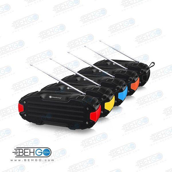 اسپیکر بلوتوثی فلش خور AUX و رم خور قابل حمل با کیفیت NEW Rixing WIRELESS BLUETOOTH MODEL NR-907FM