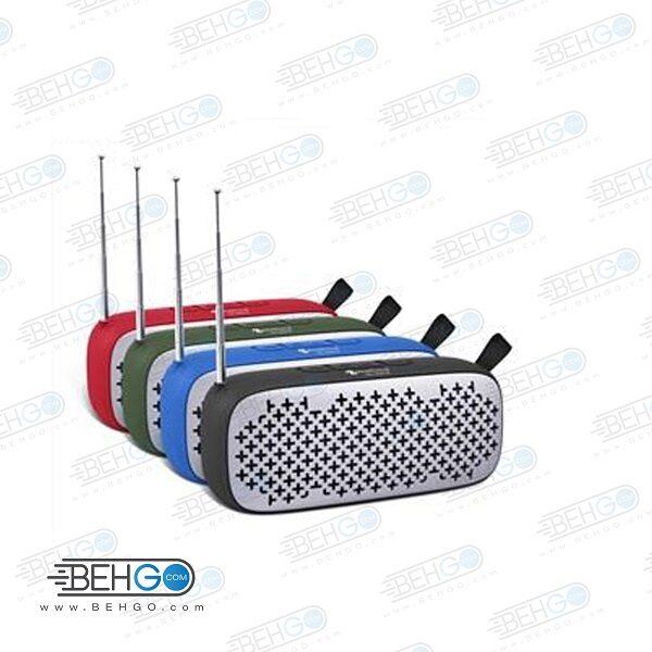 اسپیکر بلوتوثی فلش خور AUXخور رم خور قابل حمل با کیفیت NEW Rixing WIRELESS BLUETOOTH MODEL NR-909FM