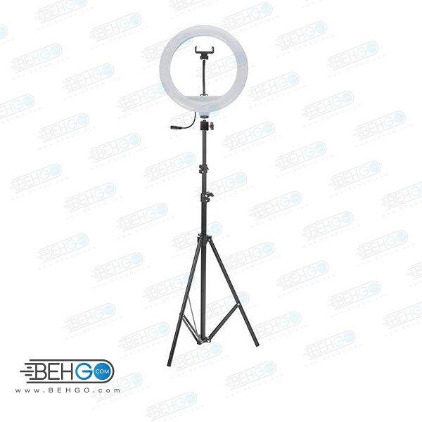 رینگ لایت مدل YQ-320A به همراه پایه Selfie Ring Light LED YQ-320A