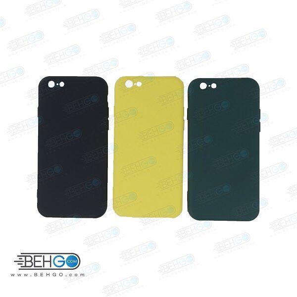 قاب   iPhone 6-6s کاور با محافظ لنز دوربین گوشی ایفون Apple iPhone 6-6s گارد سیلیکونی  iPhone 6 کاور محافظ آیفون شش مناسب Silicone Case For Apple iPhone 6-6s