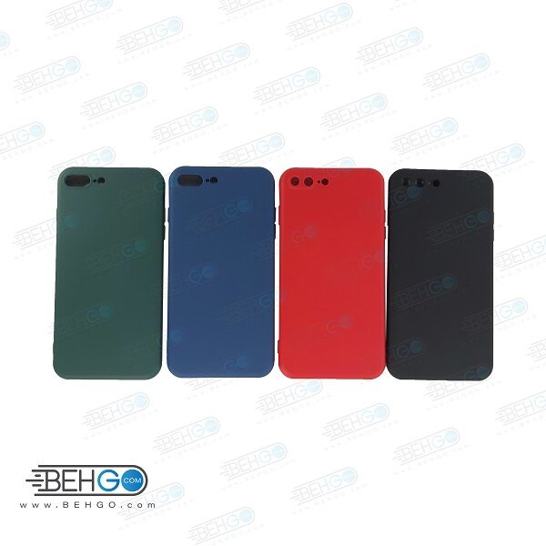 قاب iPhone 7 plus کاور با محافظ لنز دوربین گوشی ایفون Apple iPhone 7 plus/8 plus گارد سیلیکونی  iPhone 8 plus کاور محافظ آیفون هفت پلاس مناسب Silicone Case For Apple iPhone 7 plus/8 plus