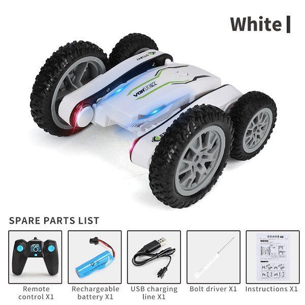 ماشین کنترلی سرعتی حرفه ای ماشین شارژی مدل Stunt Car, 2.4Ghz 4WD Car Racing Toys for 6-12 Years Kids Old Children 898A
