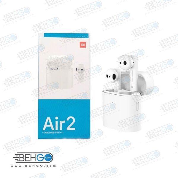 هندزفری بلوتوثی شیائومی مدل Air 2 همراه با محفظه شارژر ایرپاد شیائومی Xiaomi Mi Air2 Wireless Earphones TWSEJ02JY