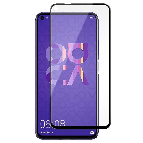 گلس Nova 5T گلس گوشی هواوی Nova5T تمام صفحه گلس محافظ صفحه هواوی نوا 5 تی مدل فول صفحه Full glass for huawei nova 5T