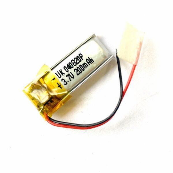 باتری هدفون بلوتوث لیتیومی تک سل 3.7V 200mAh دارای برد محافظ باطری کیفیت بالا 040820p 3.7v 200mah high quality battery