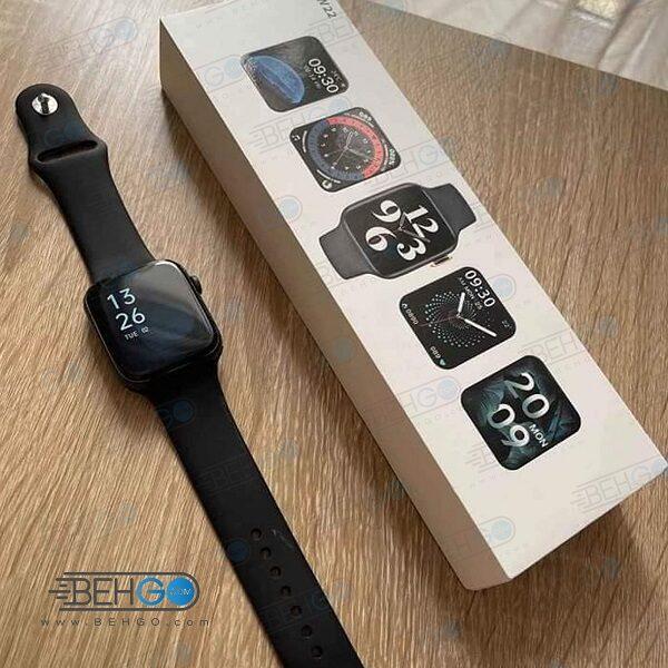 ساعت هوشمند مدل HW22 44mm اصلی ساعت طرح اپل واچ ساعت HW22 ساعت مچی هوشمند مدل Original HW22 Smart Watch 44mm Size SERIES 6
