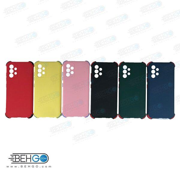 قاب سامسونگ A32 کاور مدل ژله ای دکمه رنگی محکم ضد ضربه با محافظ لنز دوربین گوشی A32 4g گارد محافظ قاب Camera Cover color key Case for Samsung A32 4G