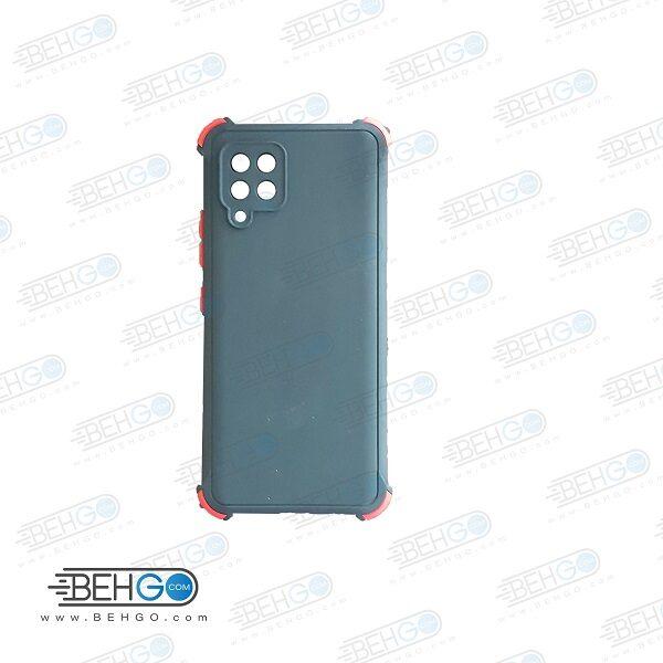 قاب سامسونگ A42 کاور مدل ژله ای دکمه رنگی محکم ضد ضربه با محافظ لنز دوربین گوشی A42 5g گارد محافظ قاب Camera Cover color key Case for Samsung A42 5G