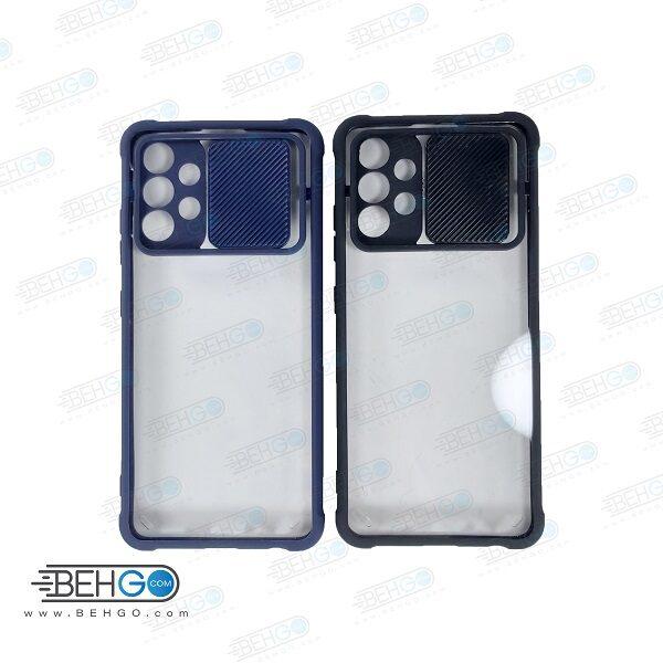 قاب A32 4G کاور پشت شفاف کپسولی با برجستگی محافظ لنز دوربین گوشی سامسونگ Samsung Galaxy A32 4g