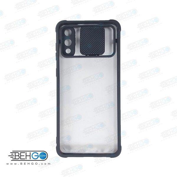 قاب گوشی سامسونگ آ صفر دو کاور جدید مدل پشت شفاف کپسولی گارد اصلی با برجستگی محافظ لنز دوربین گوشی سامسونگ Air Bag Shockproof camera lens protector Transparent Case For Samsung Galaxy A02 / A022