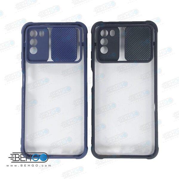 قاب گوشی شیائومی پوکو ام تری کاور جدید مدل پشت شفاف کپسولی گارد اصلی با برجستگی محافظ لنز دوربین گوشی شیائومی Air Bag Shockproof camera lens protector Transparent Case For Xiaomi Poco m3