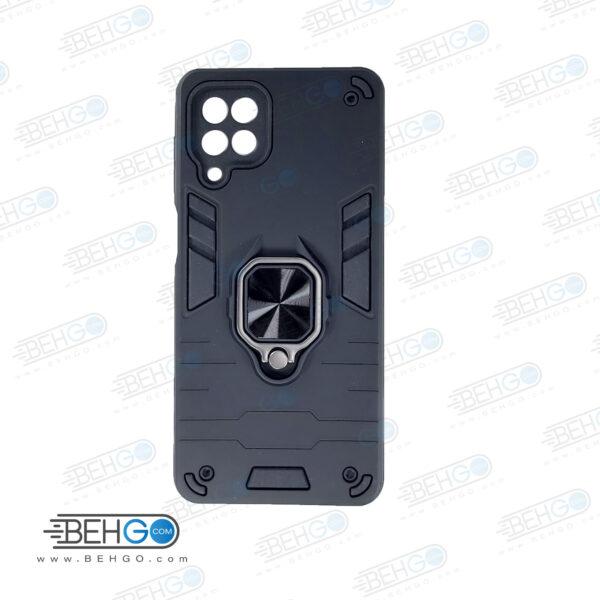 قاب گوشی M62 قاب پاپ سوکت دار مدل بتمن ارمور اصلی کاور گوشی موبایل سامسونگ Anti Shock BATMAN ARMOR FINGER RING CASE COVER For Samsung Galaxy F62 / M62