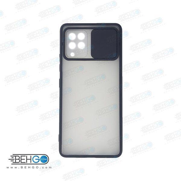 قاب  A42 کاور پشت مات محافظ لنزدار کشویی گارد A42 با محافظ لنز دوربین گوشی سامسونگ Lens Slider Case For Samsung A42
