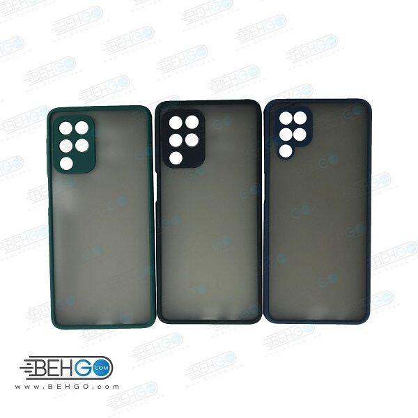 کاور محافظ قاب گوشی سامسونگ A52 گارد مدل پشت مات اصلی دور سیلیکونی با برجستگی محافظ لنز دوربین برای گوشی سامسونگ Fashion Case For Samsung A52