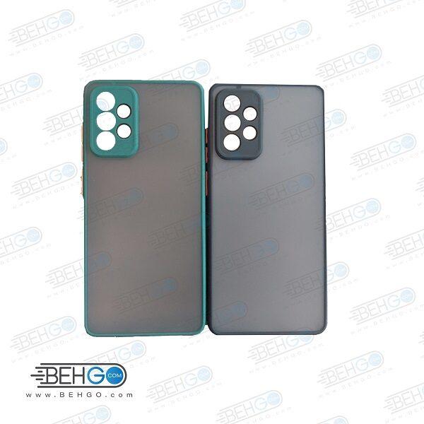 کاور محافظ قاب گوشی سامسونگ A72 گارد مدل پشت مات اصلی دور سیلیکونی با برجستگی محافظ لنز دوربین برای گوشی سامسونگ Fashion Case For Samsung A72