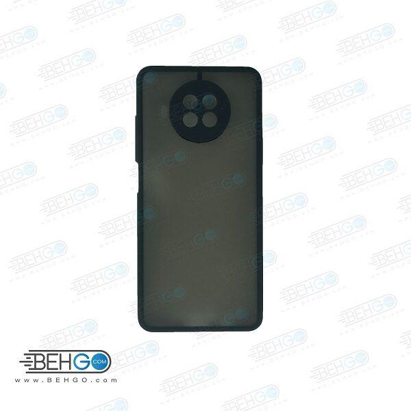 قاب MI 10T Lite 5Gکاور محافظ می 10 تی لایت گارد مدل پشت مات اصلی با برجستگی لنز دوربین دور سیلیکونی گوشی شیائومی  MI 10T Lite 5G