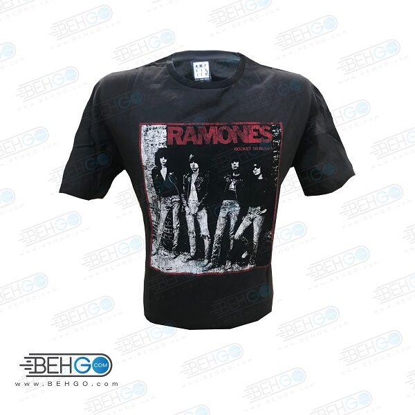تیشرت مردانه آستین کوتاه مدل Ramones