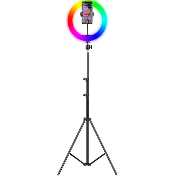 رینگ لایت حرفه ای با پایه 2 متری مدل RGB RING LIGHT MJ30