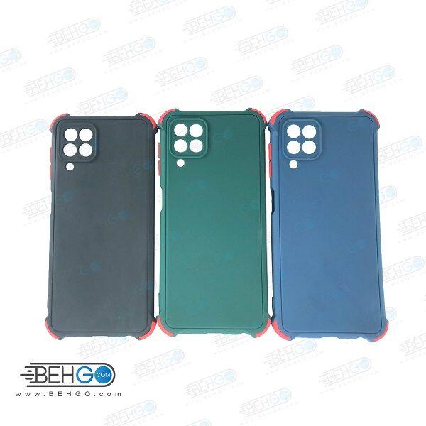 قاب سامسونگ A22 4G کاور مدل ژله ای دکمه رنگی محکم ضد ضربه با محافظ لنز دوربین گوشی  Samsung A22 4G