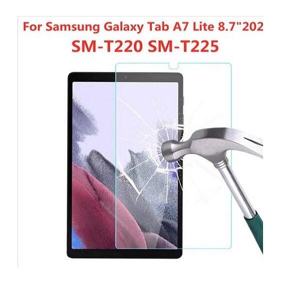 گلس تبلت سامسونگ A7 Lite T220/T225 گلس محافظ صفحه نمایش شیشه ای Glass 8.7 inch Samsung A7 Lite
